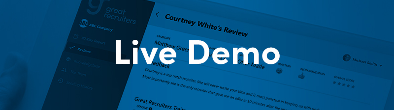 live demo great recruiters