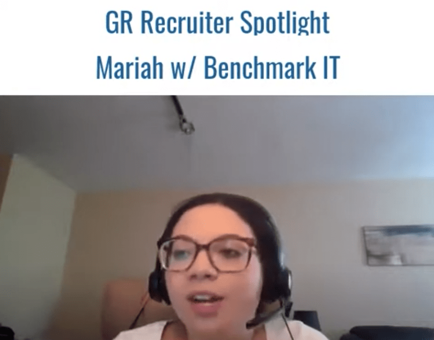 GR Spotlight: Mariah Wagner, Senior Technical Recruiter at Benchmark IT